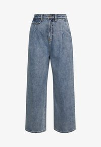 Monki - NANI TROUSERS - Široké džíny - blue medium dusty - 4