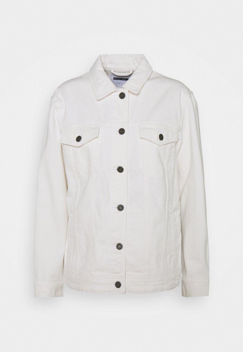 Noisy May - NMOLE JACKET - Jeansjakke - bright white