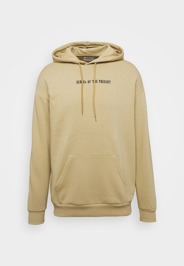 UNISEX - Sweat à capuche - tan