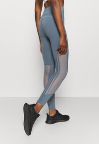 adidas Performance - Leggings - legend blue/green tint - 3