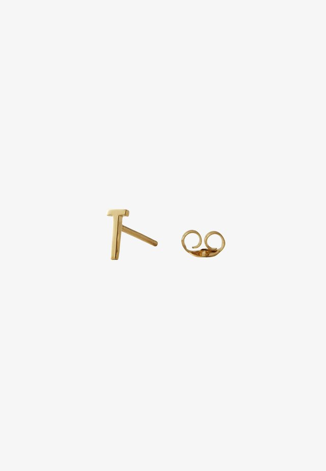 EARRING STUDS ARCHETYPES - T - Boucles d'oreilles - gold