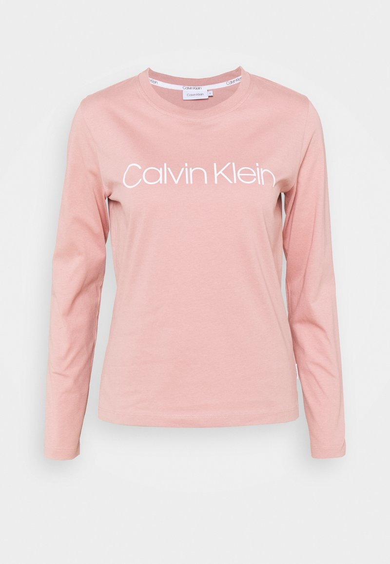 Calvin Klein - CORE LOGO CREW TEE - Long sleeved top - muted pink