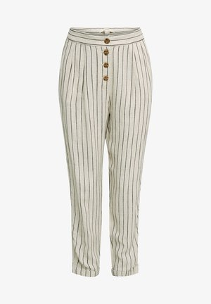 PLEATED PANTS - Trousers - sand