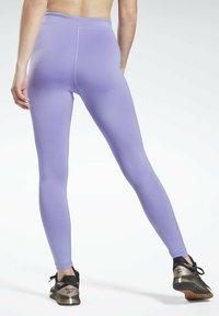 Reebok - MYT HIGH RISE LEGGINGS - Leggings - purple - 2