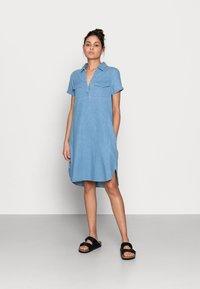 Zign - Denim dress - light blue - 0