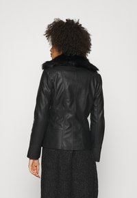 Wallis - BIKER - Faux leather jacket - black - 2