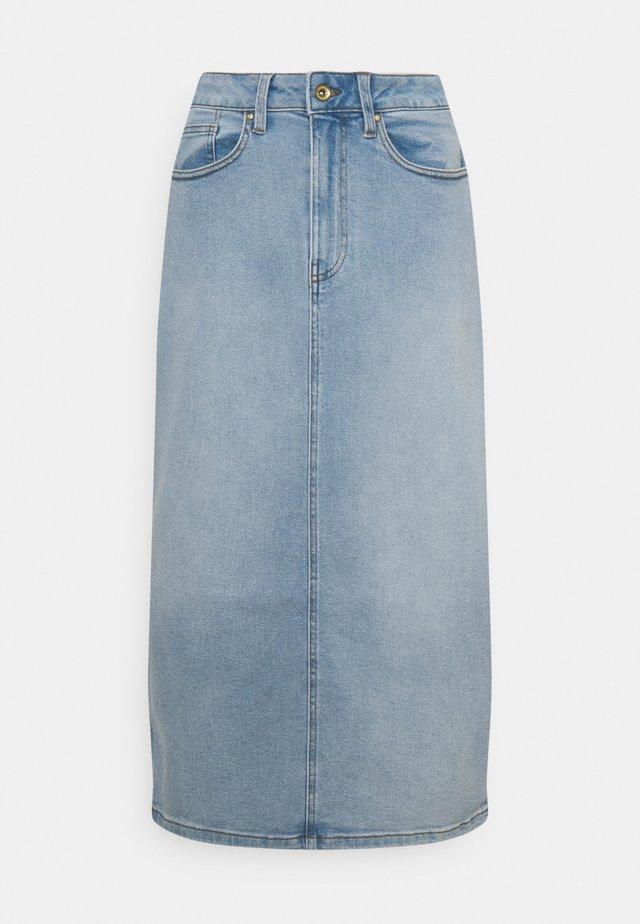 JDYCARMEN LIFE MIDI SKIRT - Denim skirt - light blue denim