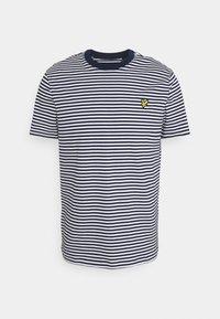 Lyle & Scott - COLOUR STRIPE - T-shirt med print - navy - 4