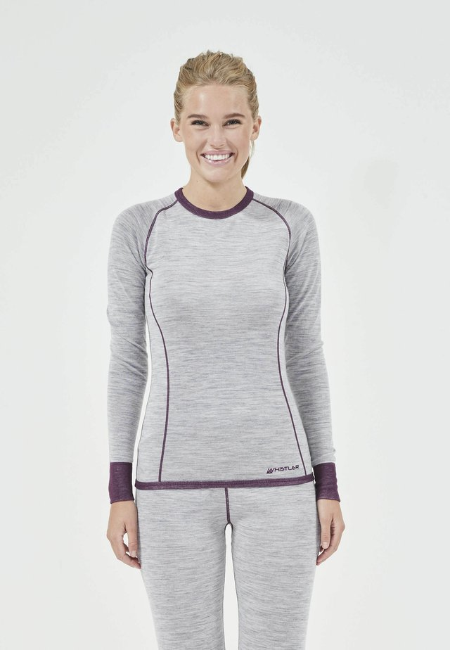 Long sleeved top - potent purple