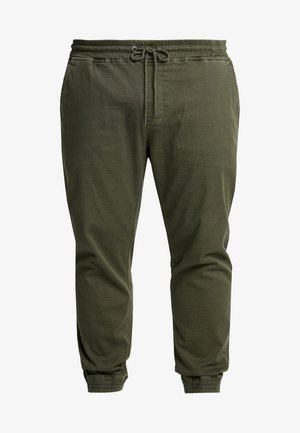 Trousers - olive night green