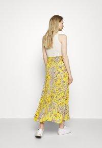 Desigual - FLORENCIA - Maxi skirt - yellow - 2