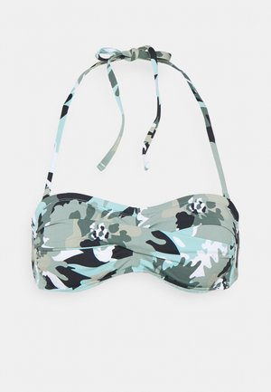 HERA BEACH BAND - Bikini top - khaki