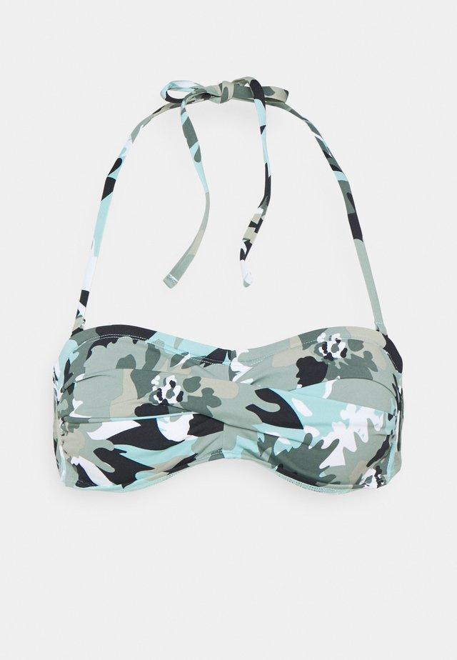 HERA BEACH BAND - Bikini top - khaki