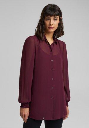 2-IN-1 - Button-down blouse - aubergine