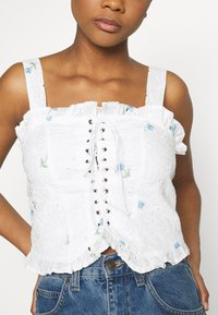 Missguided - FLORAL BRODERIE CORSET  - Top - white - 5