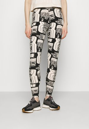 DISTORTED LOGO LEGGING - Leggings - Trousers - black