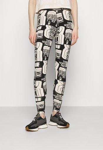 DISTORTED LOGO LEGGING - Leggings - Trousers - black