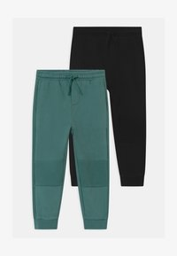 OVS - 2 PACK - Broek - granite green/black bean - 0