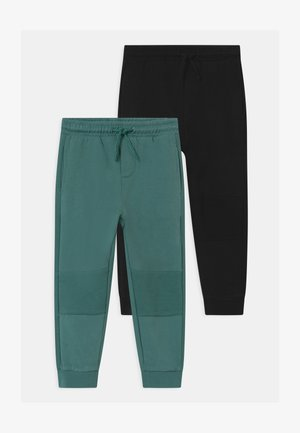 2 PACK - Trousers - granite green/black bean
