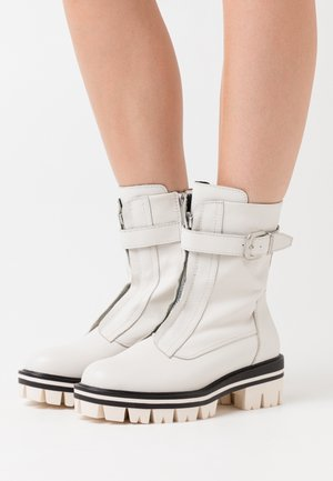 BOOTS - Platform ankle boots - white