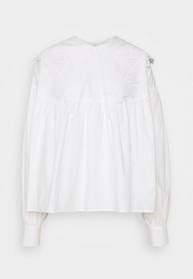 VMCAMMI COLLAR  - Blouse - snow white