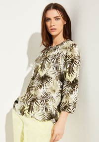 comma casual identity - Blouse - white leaf - 0