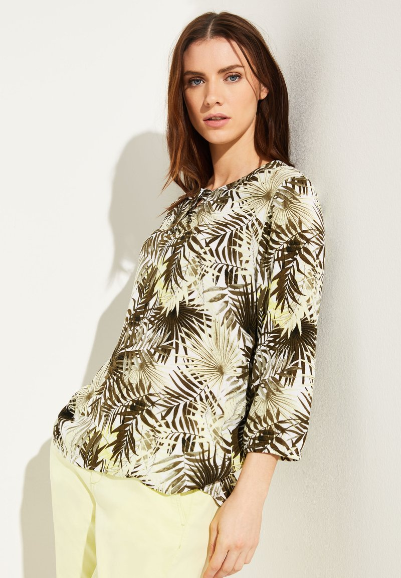 comma casual identity - Blouse - white leaf