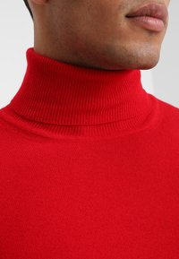 Benetton - BASIC ROLL NECK - Svetr - red - 5