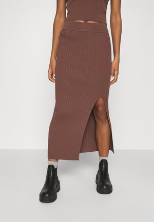 ALIZA SKIRT - Pencil skirt - chocolate
