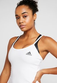 adidas Performance - STRAP TANK - Topper - white/black - 4