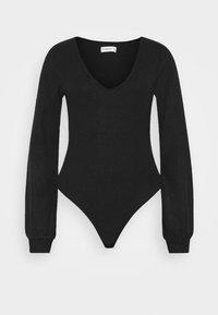 COZY TIE FRONT BODYSUIT - Jumper - black