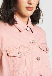 Missguided Petite - OVERSIZED JACKET - Denim jacket - blush - 5