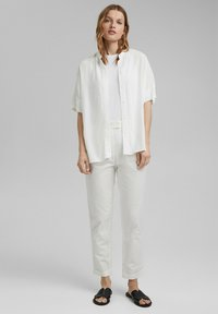 Esprit Collection - FASHION - Trousers - white - 1