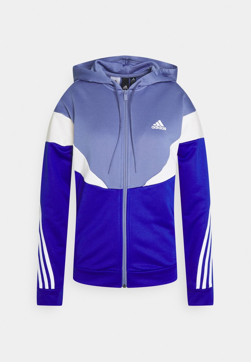 adidas Performance - COLORBLOCK - Tracksuit - orbit violet/bold blue/white