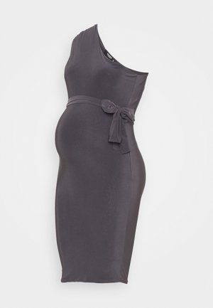 SLINKY RUCHED DRESS - Shift dress - grey