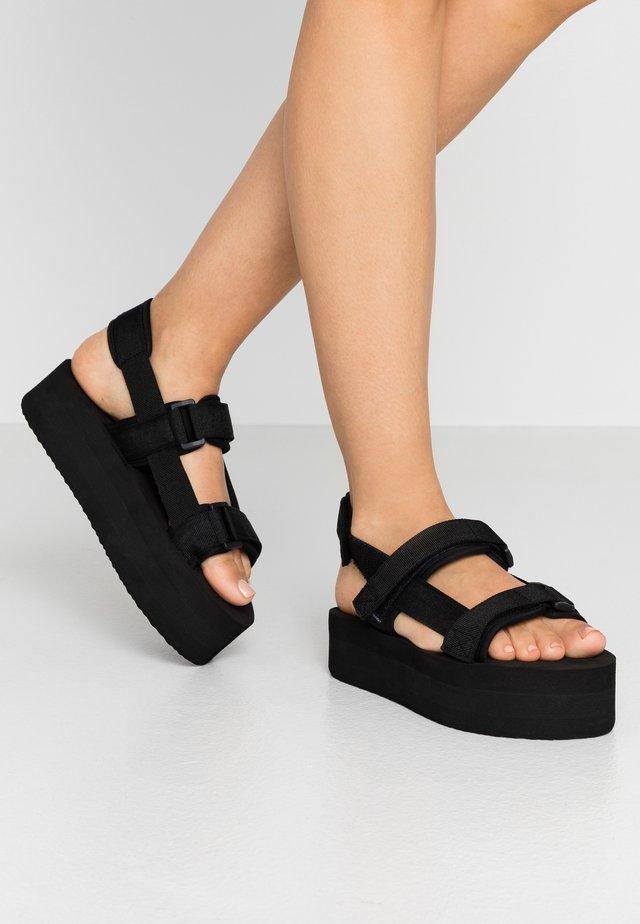 VMRELA  - Sandały na platformie - black
