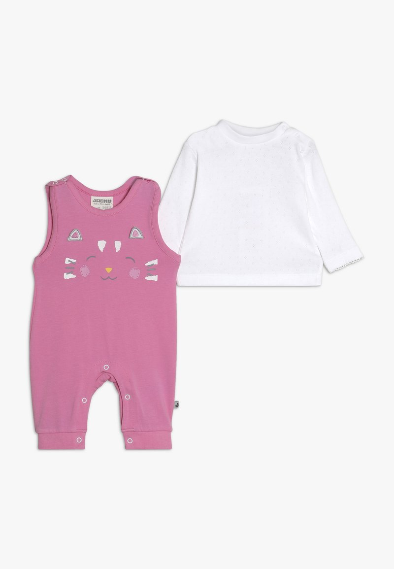 Jacky Baby - LAUFHOSEN RAIN OR SHINE 2-IN-1 - Combinaison - pink/weiß