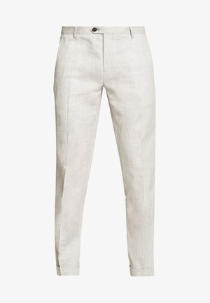 SLIM FIT BLEND PANT - Trousers - grey