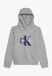 Calvin Klein Jeans - MONOGRAM HOODIE - Mikina skapucí - grey - 0