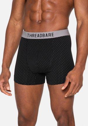 4 PACK - Boxer shorts - black / black dots / mid grey marl / grey and charcoal marl stripe