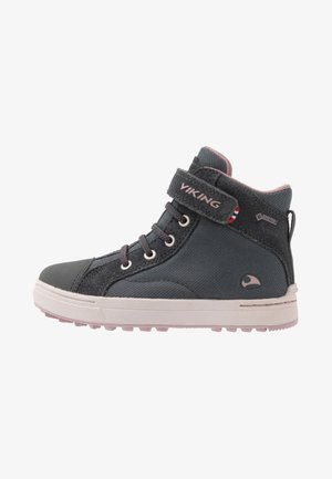 LEAH MID GTX - Hiking shoes - dark grey/dusty pink