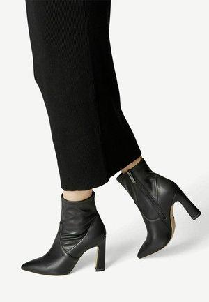 Cowboy/biker ankle boot - black matt