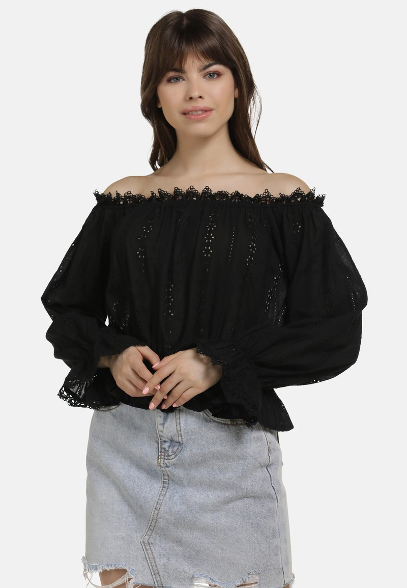 myMo - BLUSE - Blouse - black