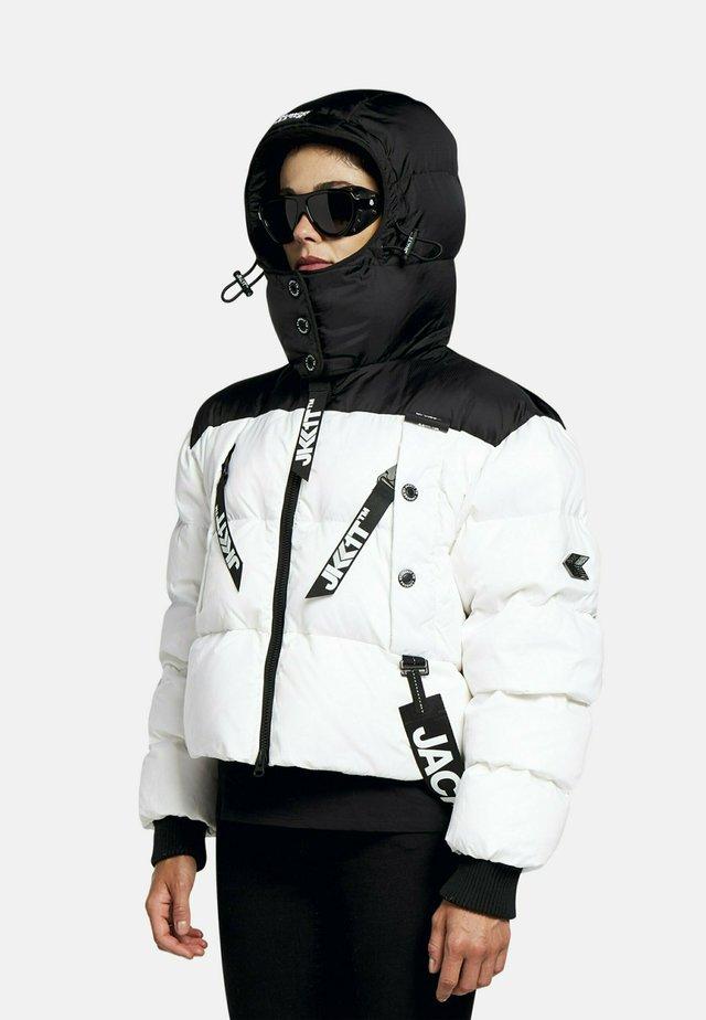 Gewatteerde jas - black/off white
