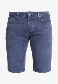 STANLEY - Jeans Shorts - steel blue