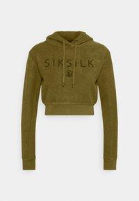SIKSILK - CROPPED HOOD - Hoodie - khaki - 0