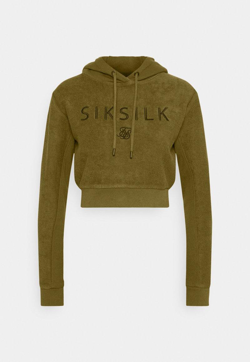 SIKSILK - CROPPED HOOD - Hoodie - khaki