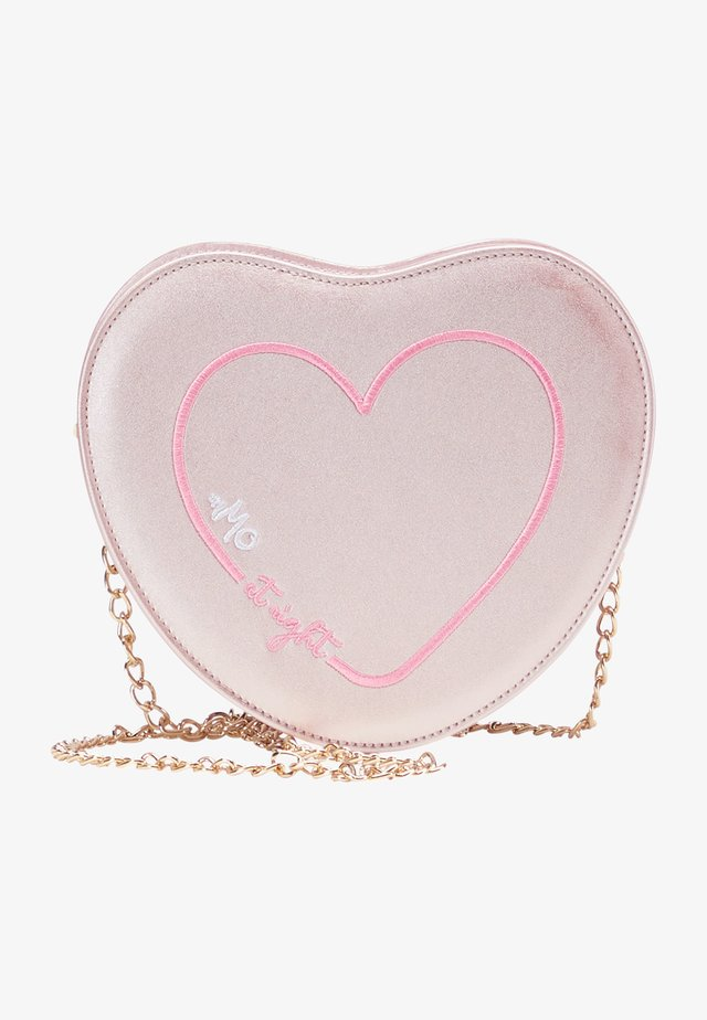 Taška spříčným popruhem - rosa metallic