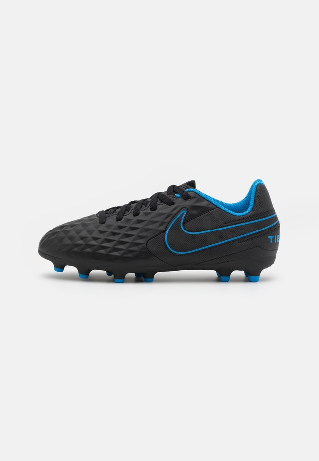 TIEMPO JR LEGEND 8 CLUB FG/MG UNISEX - Voetbalschoenen met kunststof noppen - black/light photo blue/cyber