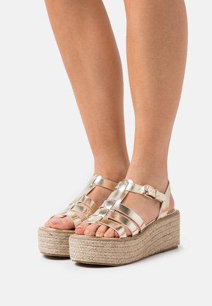 WIDE FIT MEERA - Platform sandals - gold